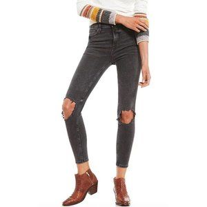 Free People Stone Wash Busted Knee Jeans
